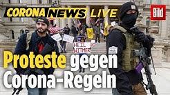 🔴Wütende Proteste gegen Corona-Regeln: BILD-Reporter LIVE vor Ort
