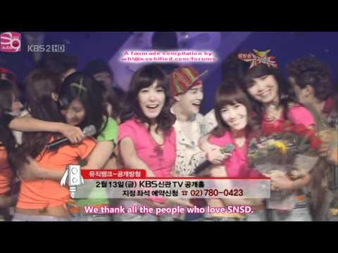 소녀시대 SNSD   Gee 9 consecutive wins compilation on KBS Music Bank   Part 1/2