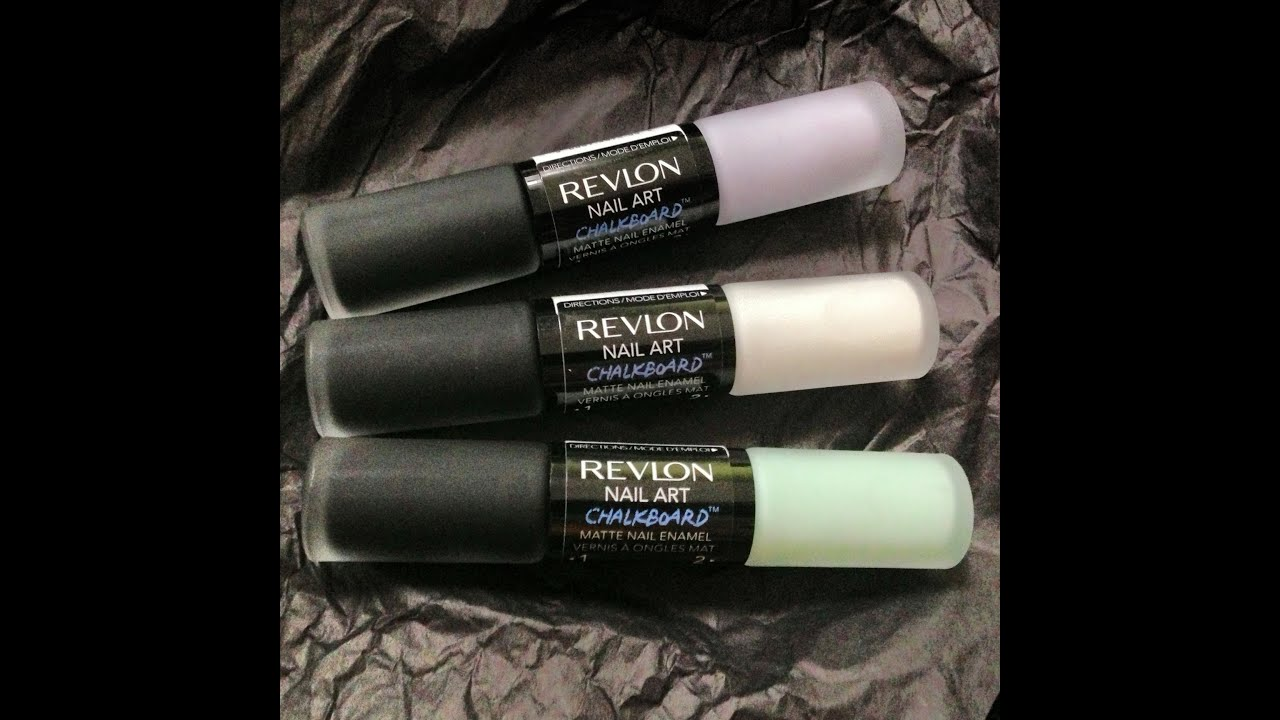 Revlon Chalkboard Nail Art Duo Review And Swatches Youtube