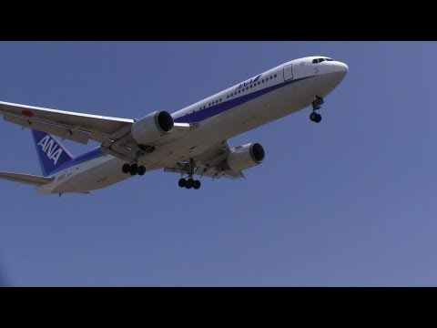 [HD]日本の空港 飛行機離着陸風景映像 Japanese airport airplane take off and landing landscape videos