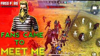 FANS COME TO MEET WITH ME || EPIC MATCH || FREE FIRE BATTLEGROUND