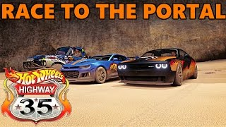 Forza Horizon 3 | RACE TO THE PORTAL! RE-CREATING HOT WHEELS HIGHWAY 35 WORLD RACE