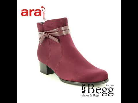Ara Catabow Wide 63654-66 Wine ankle boots