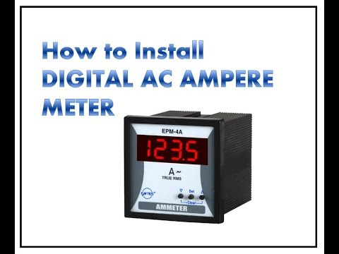 How To Digital Ammeter Connect     HOW TO INSTALL DIGITAL AC AMPRE