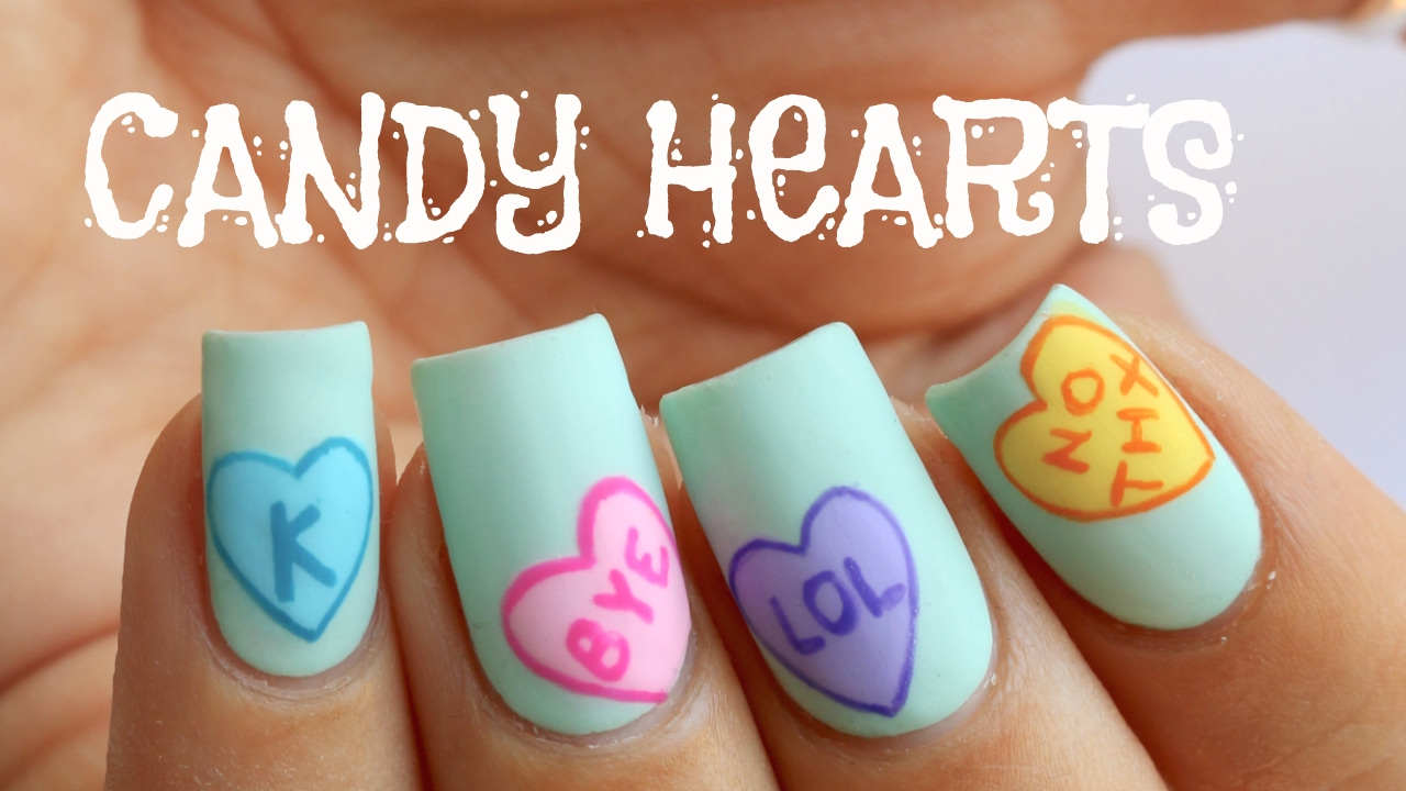 ANTI-VALENTINE\'S DAY CANDY HEARTS | Banicured - YouTube