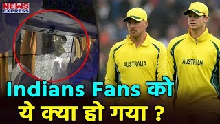guwahati म india क ह र क ब द aus team क bus पर attack finch न tweet क photo