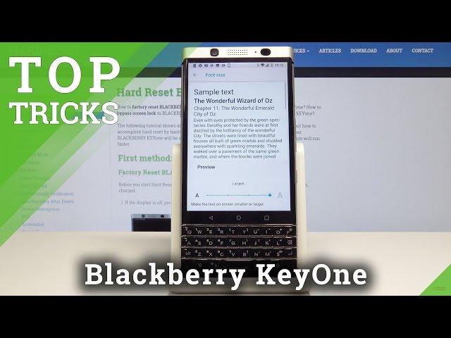 Top Tricks Blackberry KeyOne - Coolest Features / Best Tips