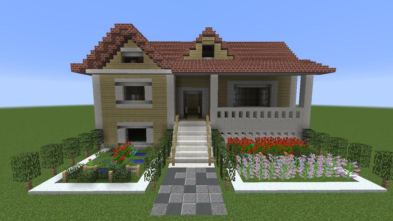 Sala De Estar Minecraft ~ Minecraft Como construir uma casa Americana no minecraft  YouTube