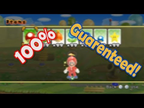 NSMBWii How To Get Every Item From Every Toad House