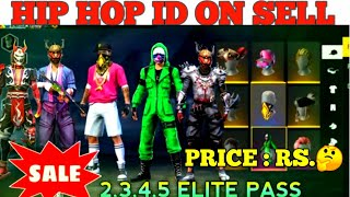 BEST FREE FIRE 🤑ID SELL || HIP HOP, CRIMINAL BUNDLE ID SELL || ALL OLD ELITE PAAS ID SELL