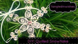 DIY: Paper Quilling-Snowflake Ornament