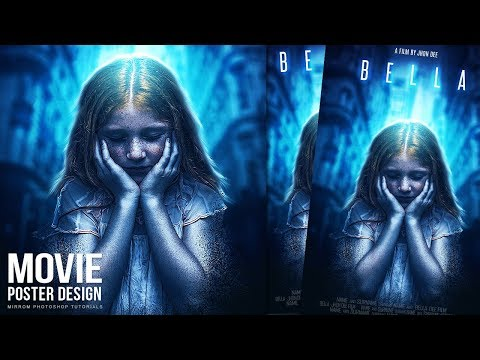 Make a Movie Poster With Blue Color and Dispersion Effect in