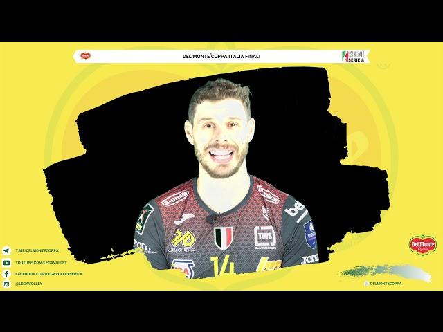 21-02-2020: Bruno Mossa De Rezende si presenta all Final4 di Del Monte Coppa Italia