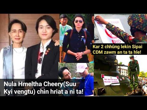 Myanmar Nula hmeltha Cheery(Suu Kyi Vengtu) chin hriat a ni ta e! Sipai CDM zawm an tam sâwt ta hle!