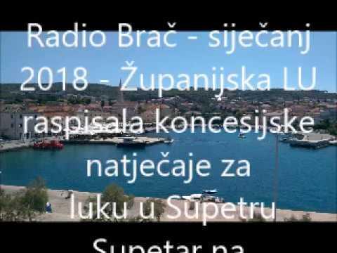 Radio Brac siječanj, 2018.; Koncesije na luku Supetar - komentar ZaNaS -VM