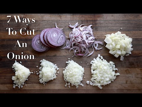 7 Different Ways To Cut An Onion