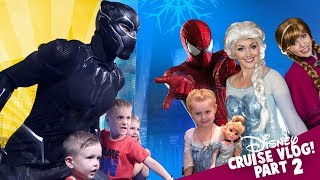 Marvel Superheroes and Princesses! Disney Cruise Kids Vlog Day 2!