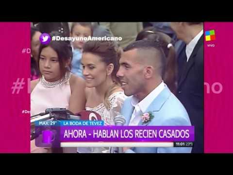 Se casaron por civil Carlos Tevez y Vanesa Mansilla