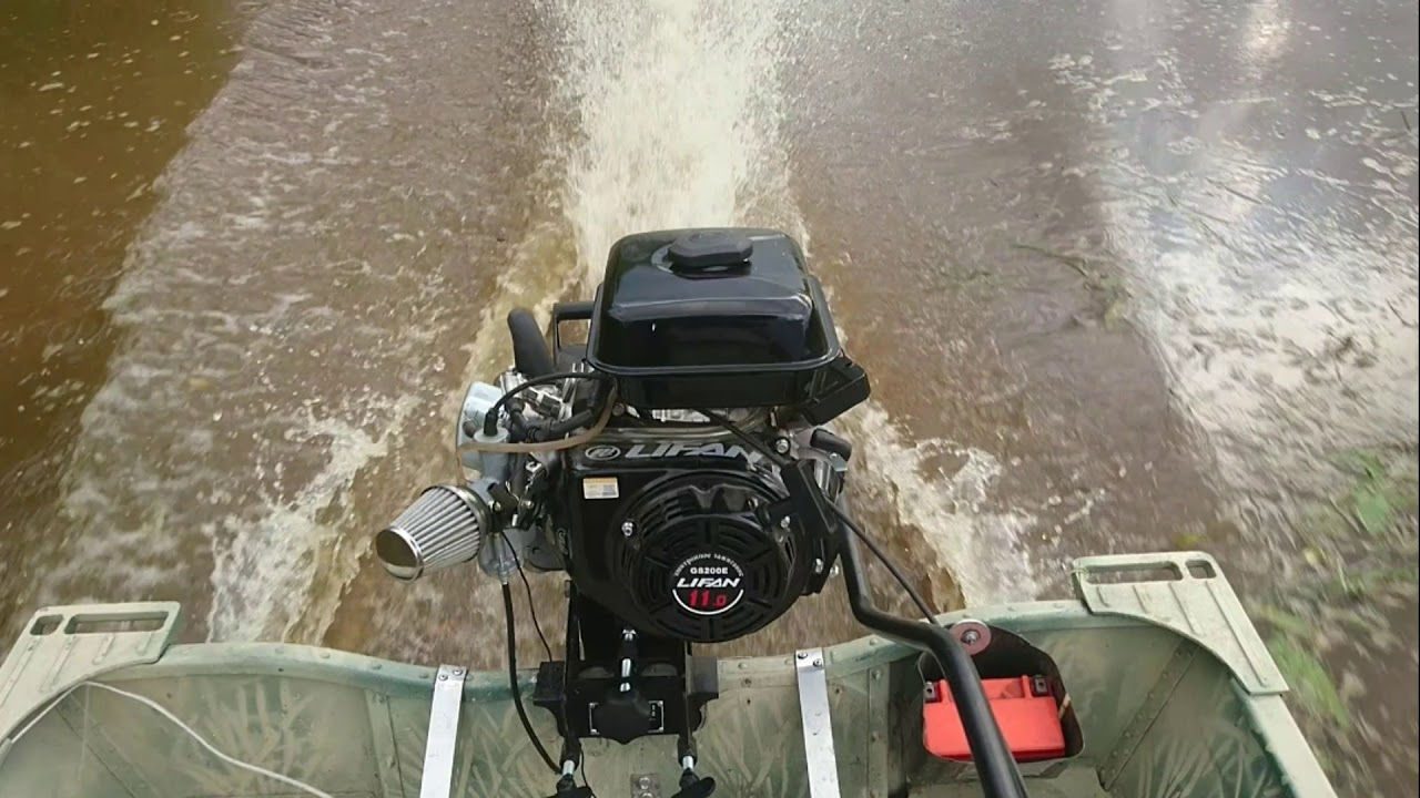 Смотреть видео Тест Лодки болотоход 4м Мотор 18.5 лс Lifan на ВМире бесплатно