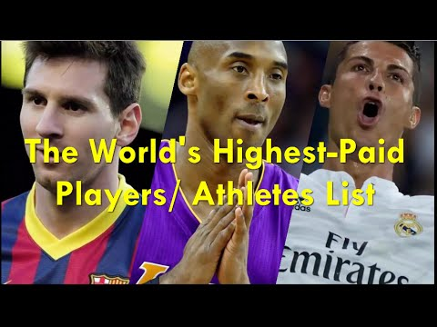 The World's Highest-Paid Players/ Athletes List Salary / Winnings / Endorsements
