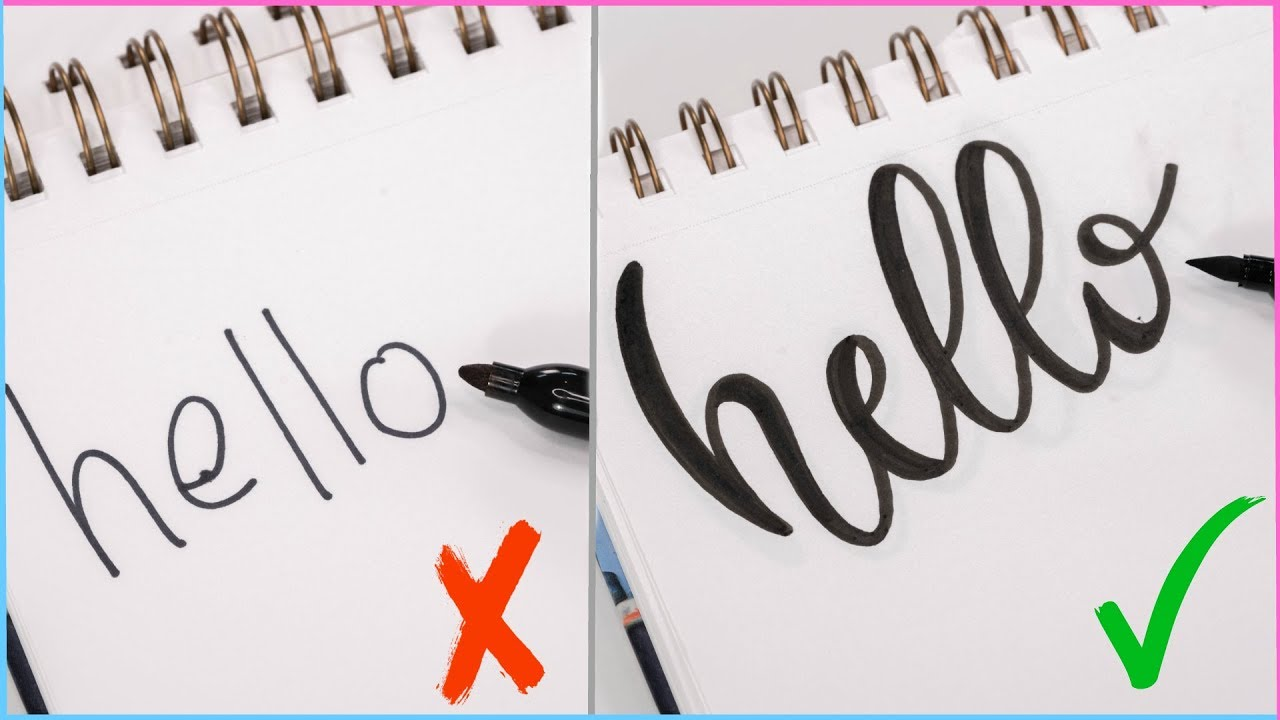 How to: calligraphy & hand lettering for beginners! Tutorial +.