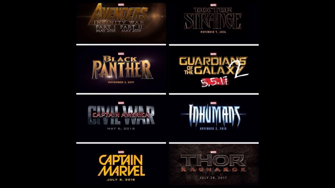 marvel film line up