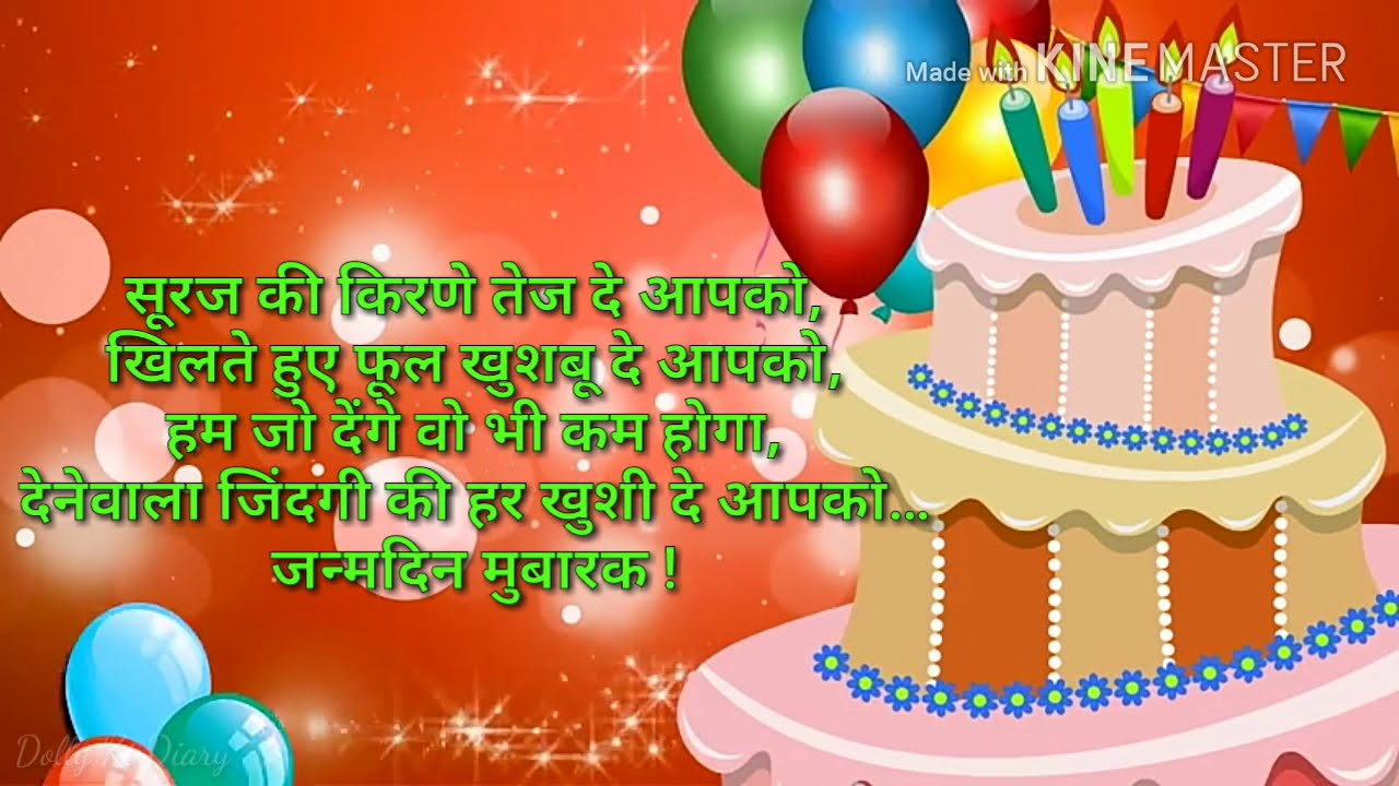 Hindi Birthday Wishes,जन्मदिन की शुभकामनाएं, Greetings, Happy Birthday Animation,हिंदी