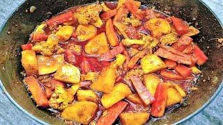 Gobhi Gajar Shalgam ka Meetha Achar   गोभी गाजर शलगम का खट्टा मीठा आचार