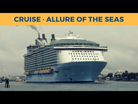 Departure of cruise vessel ALLURE OF THE SEAS in Fort Lauderdale (Royal Caribbean International)