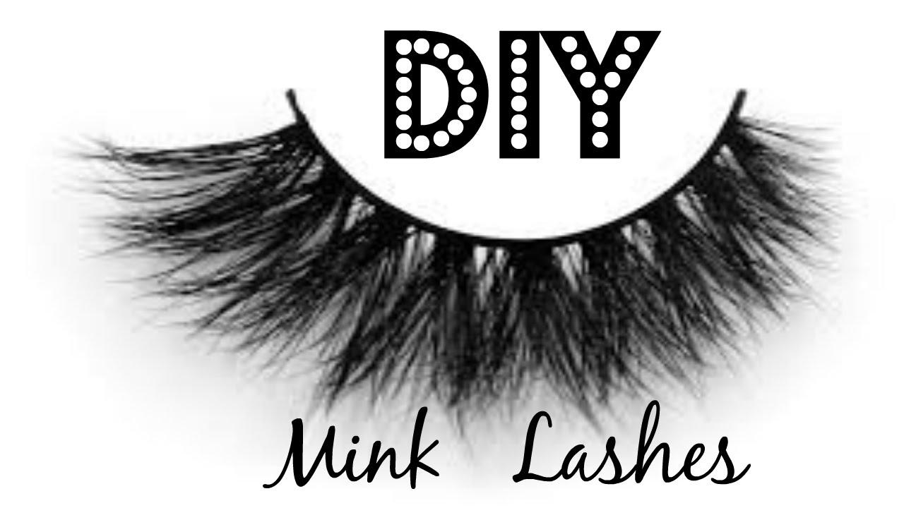 DIY Faux Mink Lashes - Stacking Lashes - YouTube