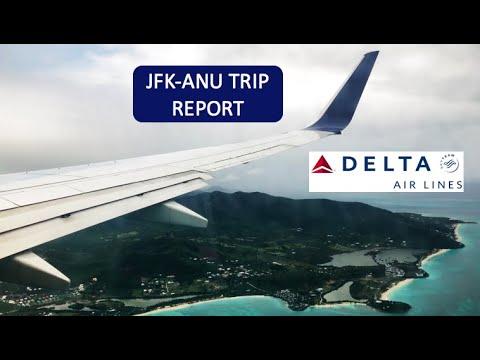 DELTA AIRLINES | CARIBBEAN 737-800 | ECONOMY CLASS | TRIP REPORT | JFK - ANU