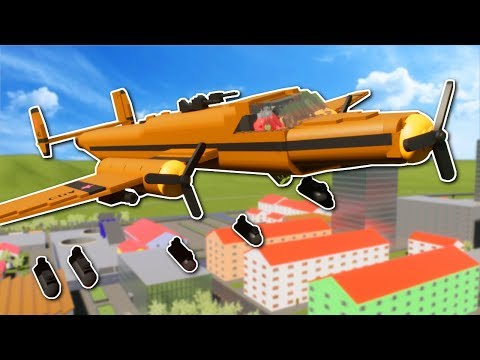 BOMBER PLANE BATTLE! - Brick Rigs Multiplayer Gameplay - Lego Plane Battle