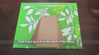 Recycled Craft - How To Make A Picture Frame Out Of Gift Bag