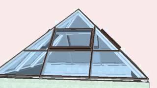 Зенитный фонарь 5500x5500мм. 3D визуализация.(Выполним 3D визуализацию сложных пространственных конструкций (зимние сады, зенитные фонари, пирамиды,..., 2012-10-02T18:14:25.000Z)