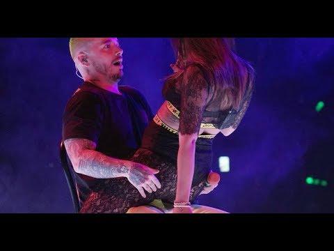 J BALVIN SE EXCITA CON ANITTA BAILANDO DOWNTOWN (VIBRAS TOUR)