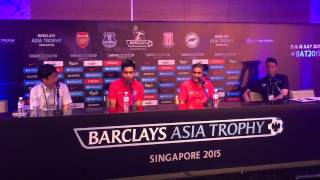 Singapore Selection XI press conference for Barclays Asia Trophy