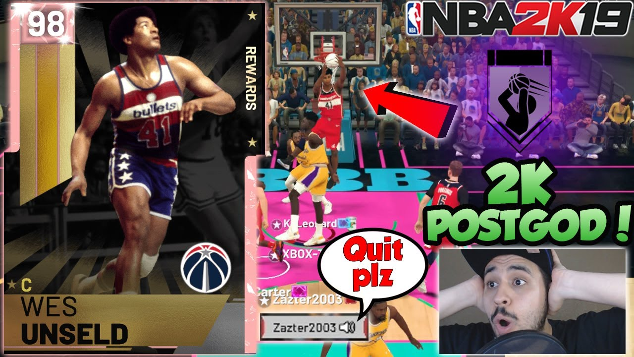 PINK DIAMOND WES UNSELD GAMEPLAY! AMAZING FREE PINK DIAMOND IN NBA 2K19  MYTEAM
