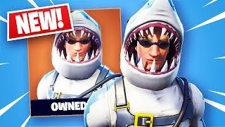 Fortnite Legendäre Chomp Sr. Shark Skin + Shark Fin Zurück Bling! (Fortnite Battle Royale)