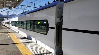 【4K】中央本線大月駅・E353系特急あずさ60号新宿行き到着 2021-03-07