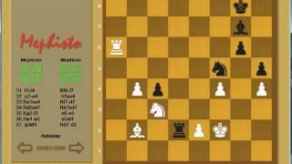 Mephisto ChessMaster autoplay (blitz game - 3 minutes)