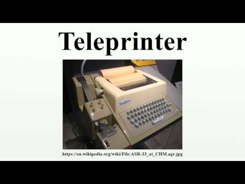 Teleprinter