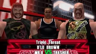 Mr. A vs D'Lo Brown vs Trasher | The revenge of WWF Attitude but in WWF No Mercy (Expert)