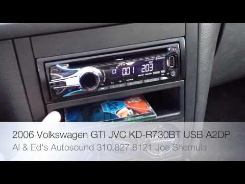 2012 JVC KD-R730BT SINGLE DIN RADIO REPLACEMENT IN A 2006 VW GTI MKV