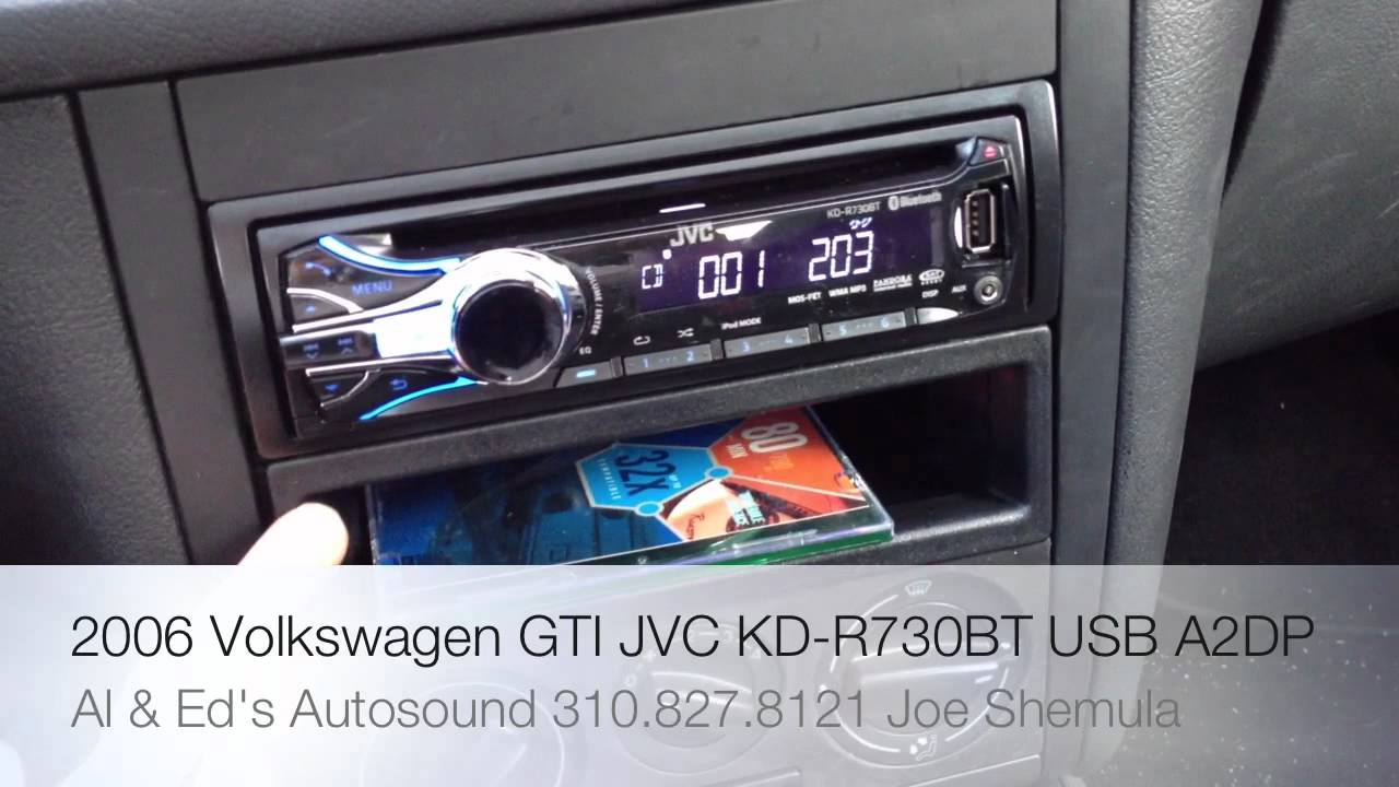 [DIAGRAM_5NL]  2012 JVC KD-R730BT SINGLE DIN RADIO REPLACEMENT IN A 2006 VW GTI MKV -  YouTube | Jvc Kd R730bt Car Stereo Wiring Diagram |  | YouTube