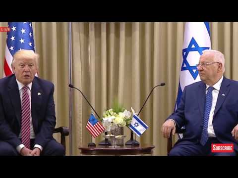President Donald Trump IMPORTANT TALK With Reuven Rivlin President of Israel in Jerusalem