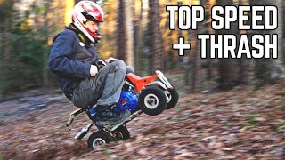 10HP Mini Quad THRASH + Top Speed Test!