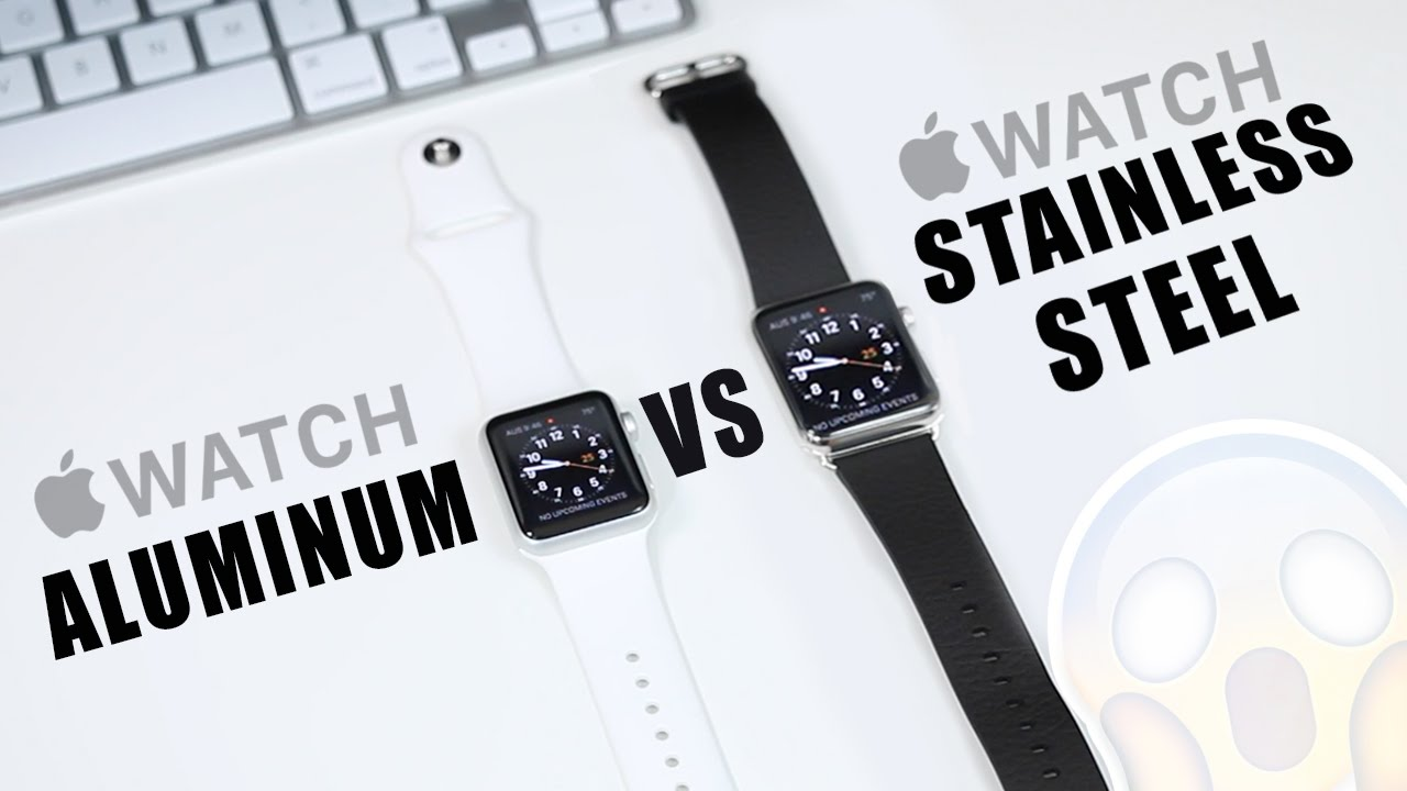 Apple Watch Sport Comparison Gold versus Space Grey 42mm - YouTube