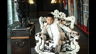 Emiliano Cyrus_8-year-old Young Model on High Fashion Runway_July 2017