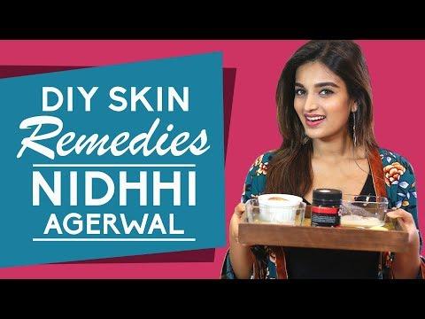 Nidhhi Agerwal reveals her skin care routine secrets | Home Remedies | Pinkvilla | Fashion