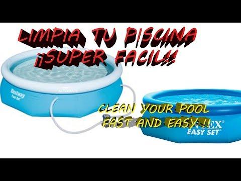 Limpiar fondo de piscina desmontable manguera clean - Como limpiar el fondo de una piscina ...
